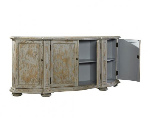 Washed Blue Briquette Sideboard - Open View