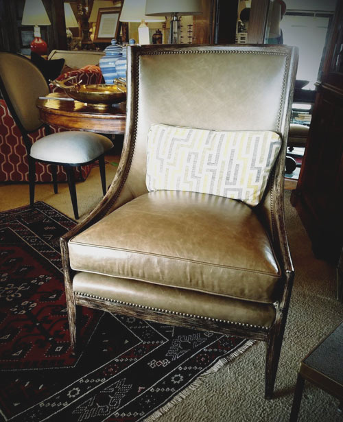 Tobacco Leather Occasional Chair Set of 2
