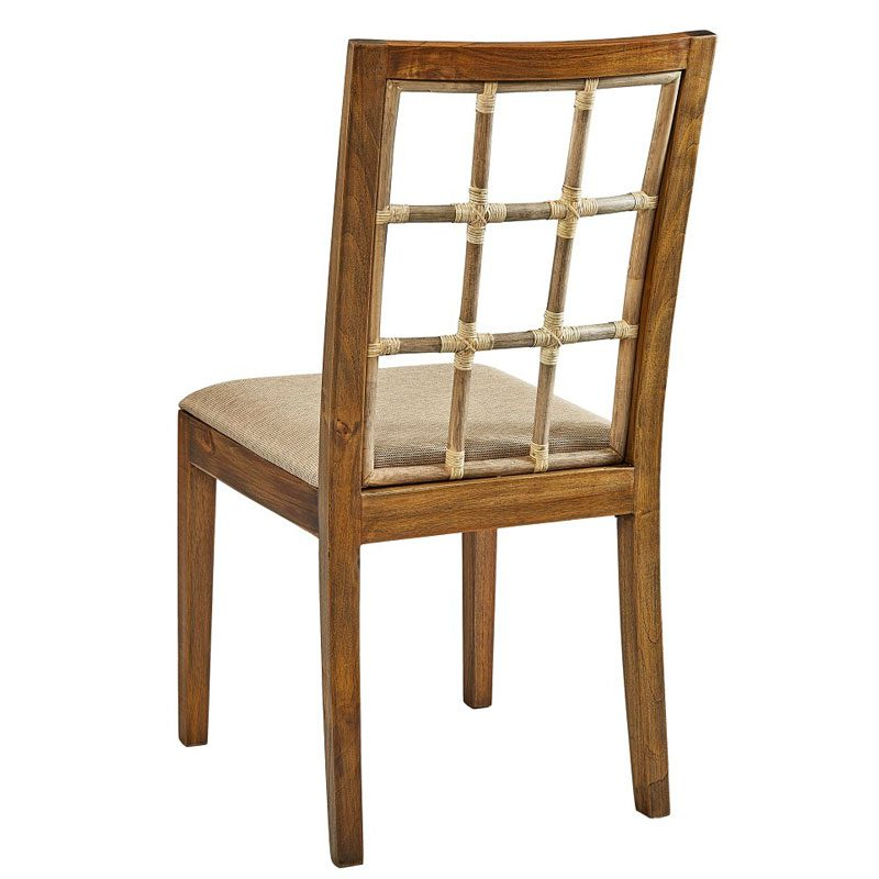 Bamboo Window Pane Side Chair - Back View