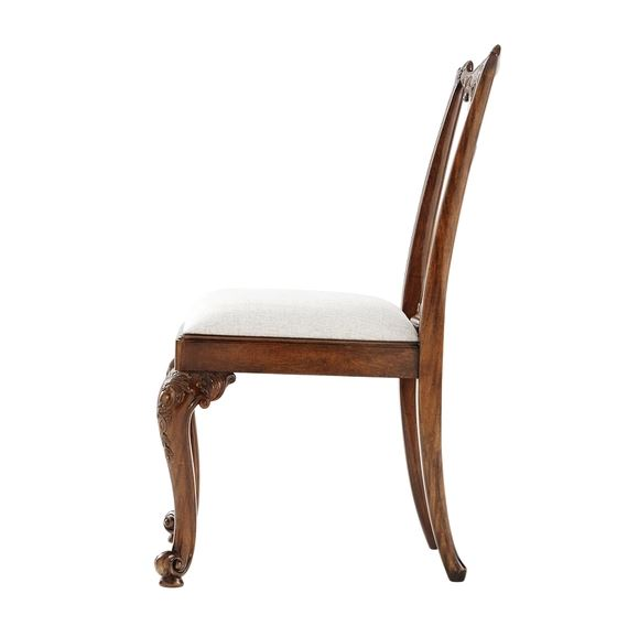 Seated in Rococo Side Chair - Side View