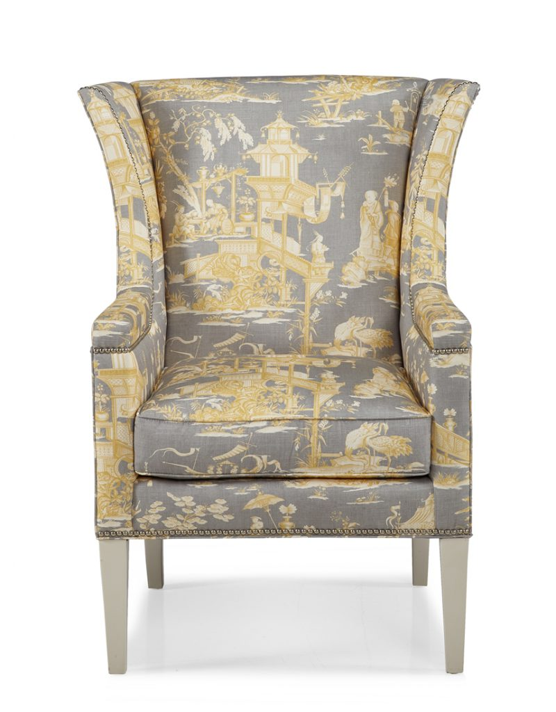 Hunter Wing Chair - Front View