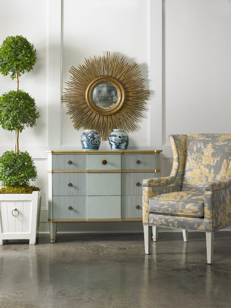 Hunter Wing Chair - Staged