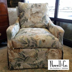 Wesely Hall Floral Chair in the Showroom