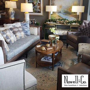 Staged designer furnishings