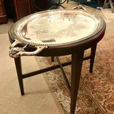 Vintage Silver Tray Table