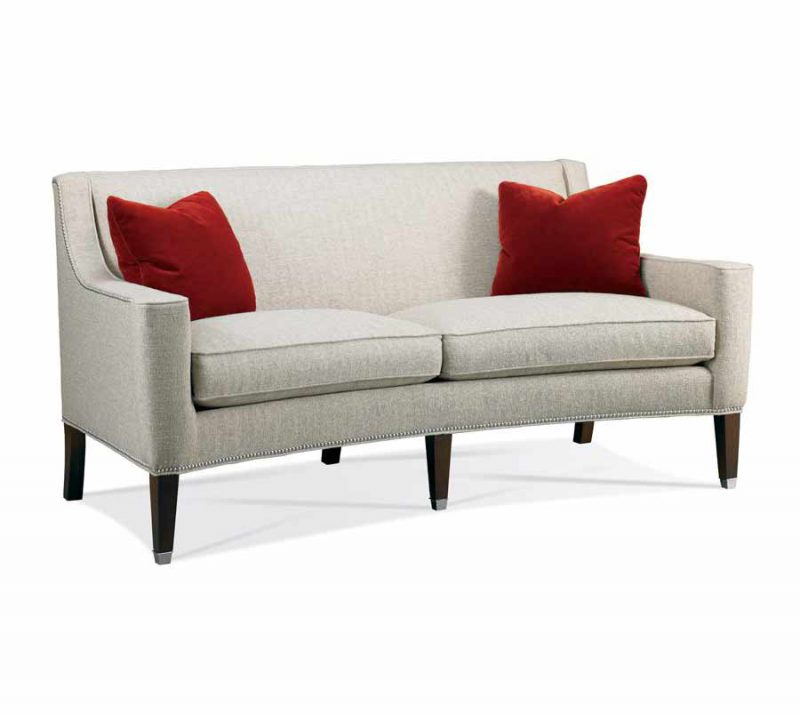 Curved front sofa