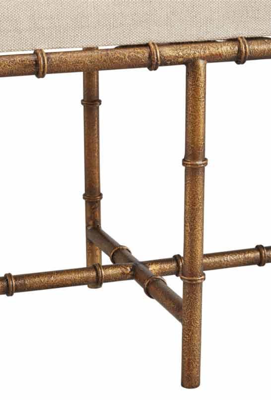 Anibus Iron Bench - Detail View
