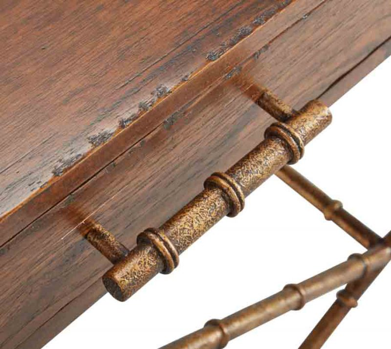 Anubis Cross Leg Console Table - Detail View