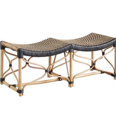 Black and Tan Bistro Bench