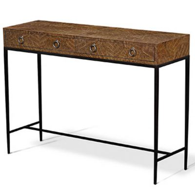Parquetry Inlaid Rectangular Console Table