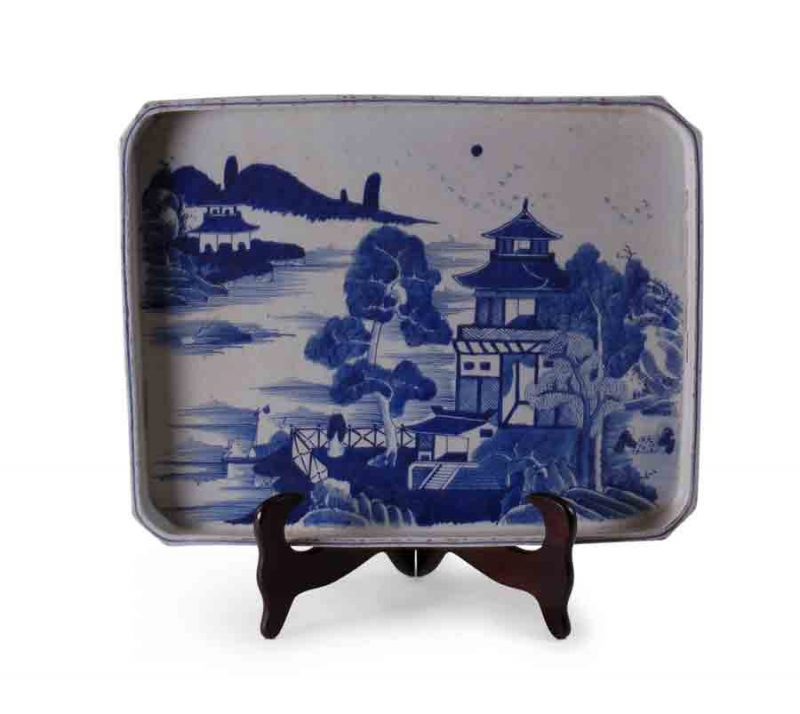 Blue and White Canton Tray