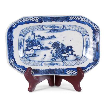 Blue and White Canton Plate