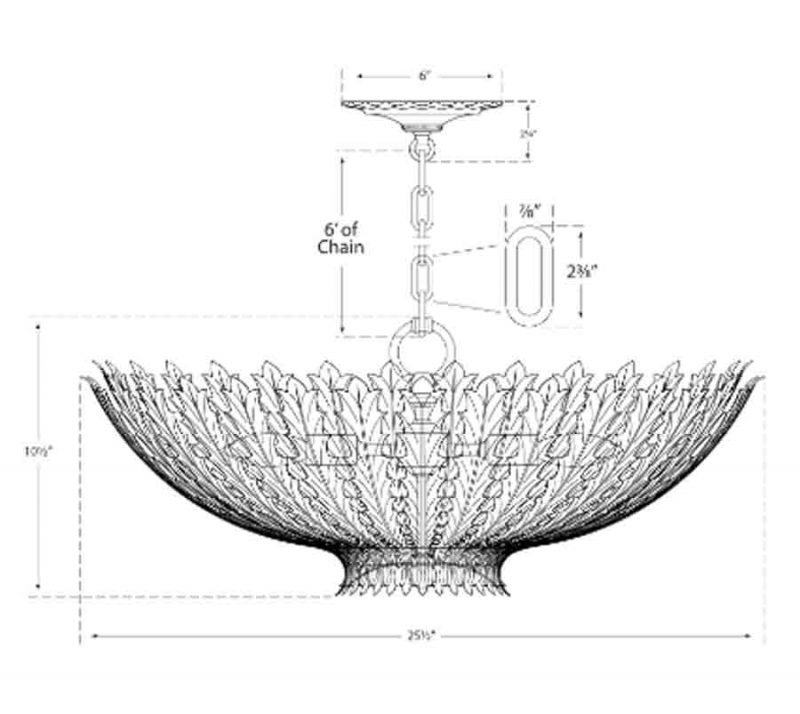 Hampton Large Chandelier Diagram