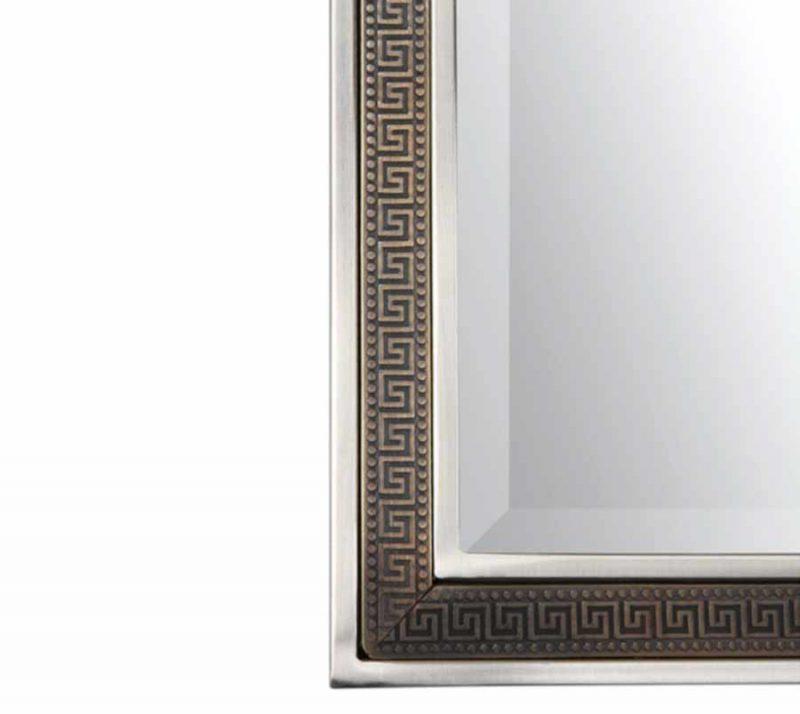 Alexius Greek Key Mirror - Detail View