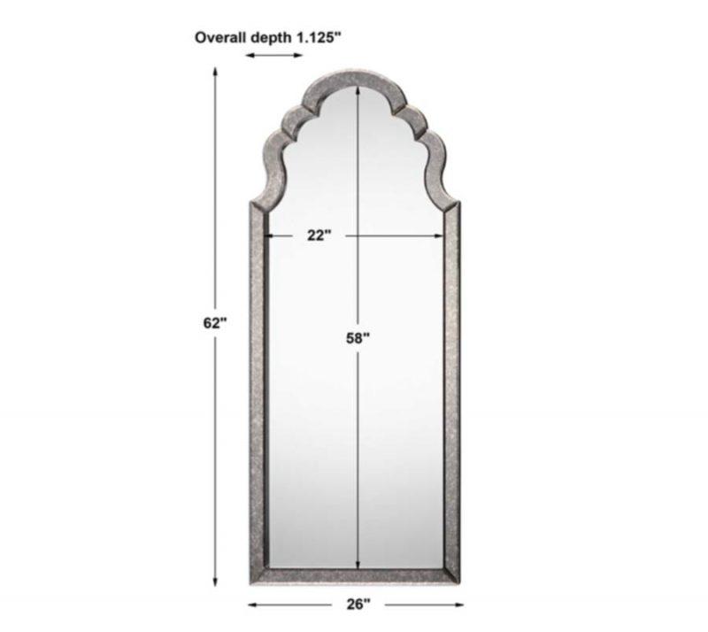 Lunel Arch Mirror - Dimensions
