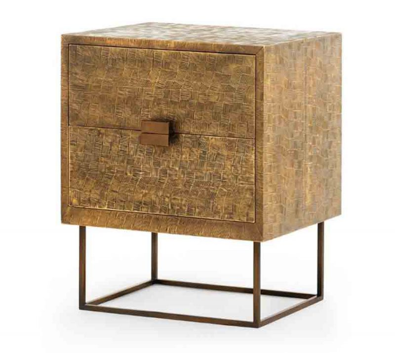 Cubic 2-Drawer Side Table