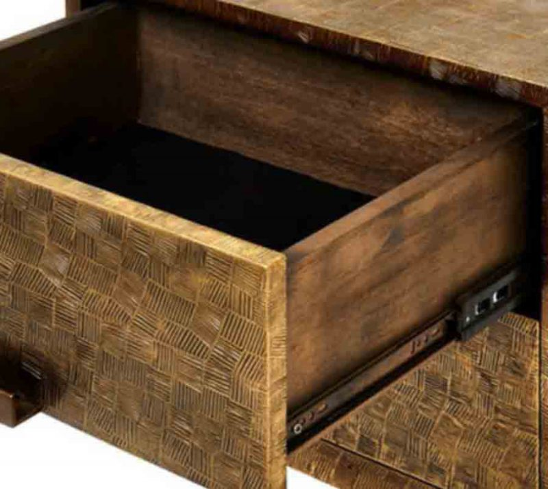 Cubic 2-Drawer Side Table - Detail View