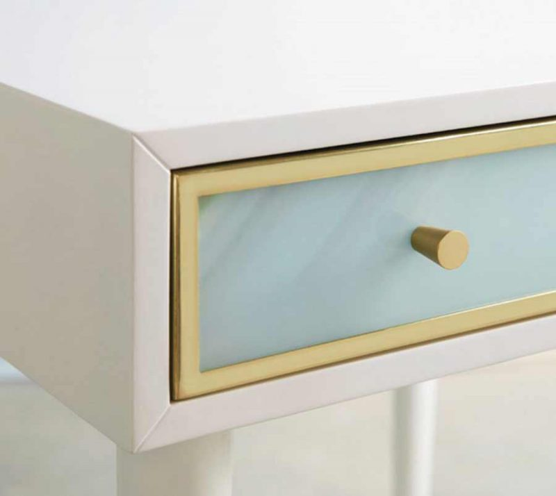Seaglass End Table - Detail View