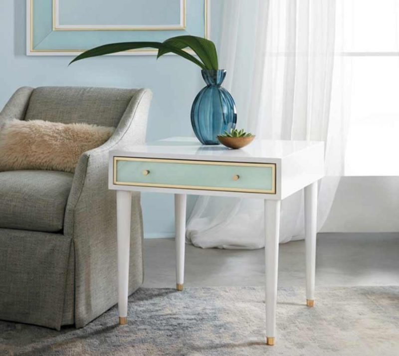 Seaglass End Table - Staged