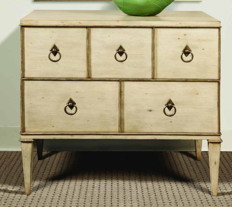Two Drawer Chest in Linen