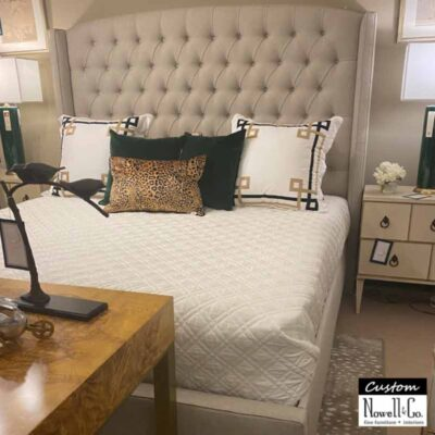 Custom Upholstered Tufted Button King Bed