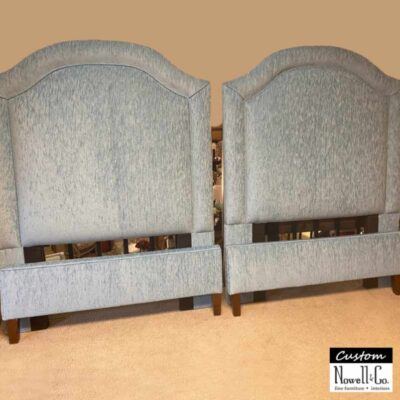 Custom Arch Upholstered Twin Bed