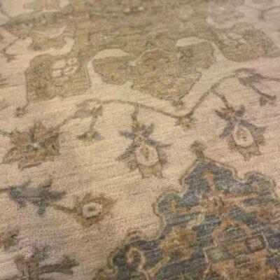 Muted Gray & Tan Handmade Rug